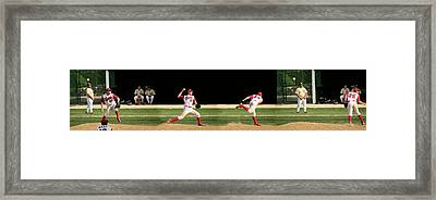 Wind Up And Delivery 4 Panel Composite Digital Art Framed Print by Thomas Woolworth