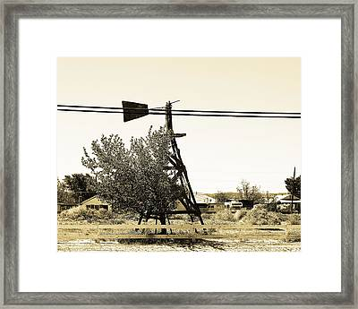 Wind Vane In Boron California Framed Print by Charlette Miller