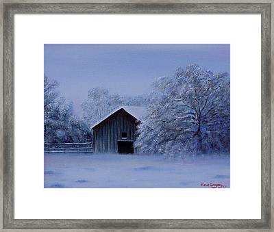 Windberg Barn Framed Print by Gene Gregory