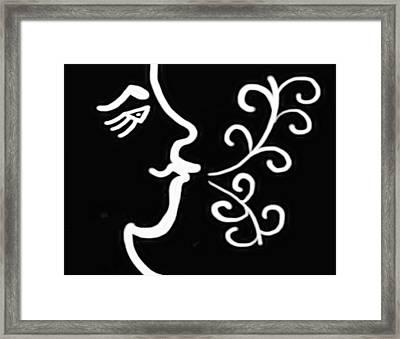 Windblower In Black And White - Digital Artwork Framed Print by Gina Lee Manley