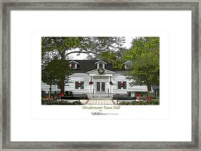 Windermere Town Hall Framed Print