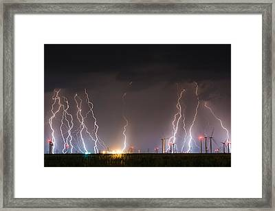 Windfarm Bolts Framed Print