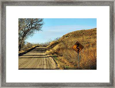 Framed Print featuring the photograph Winding Country Road by Bill Kesler