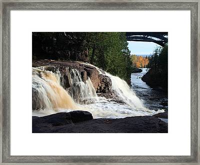 Winding Falls Framed Print by James Peterson