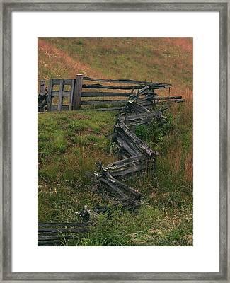 Winding Fence Framed Print by Bill Marder
