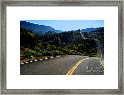 Winding Journey Framed Print