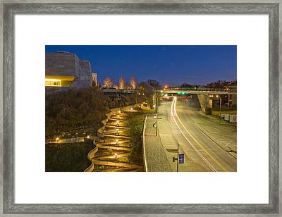 Winding Path Framed Print by Dale Wilson