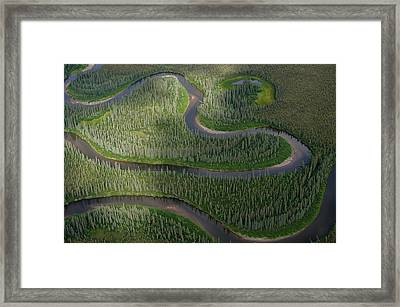 Winding River In The Arctic Framed Print