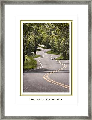 Winding Road Door County Framed Print