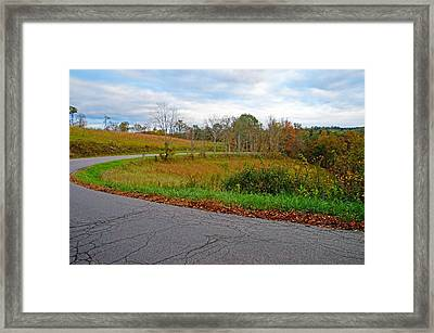 Framed Print featuring the photograph Winding Road by Mike Murdock