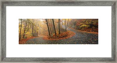 Winding Road Through Mountainside In Framed Print by Panoramic Images