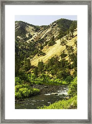 Winding Stream-yosemite-series 01 Framed Print by David Allen Pierson