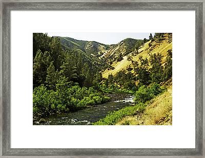 Winding Stream-yosemite-series 02 Framed Print by David Allen Pierson