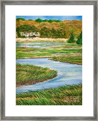 Winding Waters - Cape Salt Marsh Framed Print by Michelle Wiarda