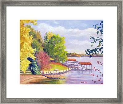 Windjammer Park Framed Print by Julia Rietz