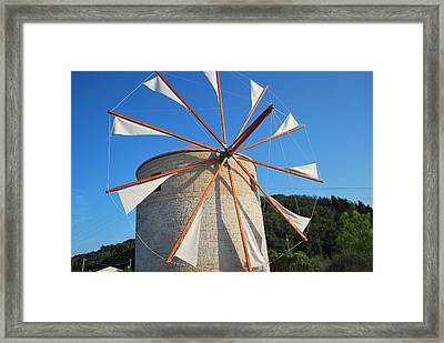 Windmill  2 Framed Print by George Katechis