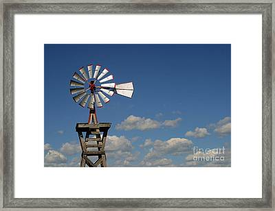 Windmill-5764b Framed Print by Gary Gingrich Galleries