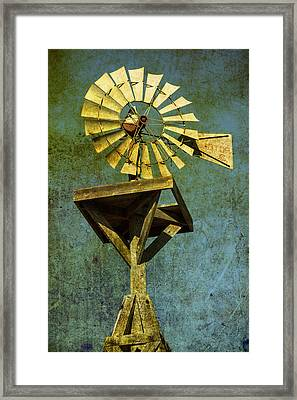 Windmill Abstract Framed Print by Garry Gay