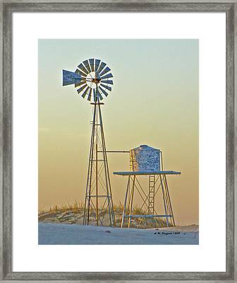 Windmill At Dawn 2011 Framed Print