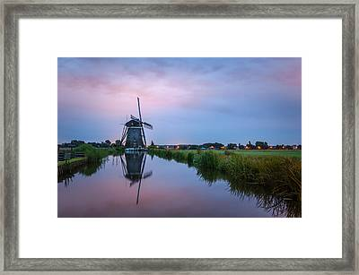 Windmill At Dawn Framed Print