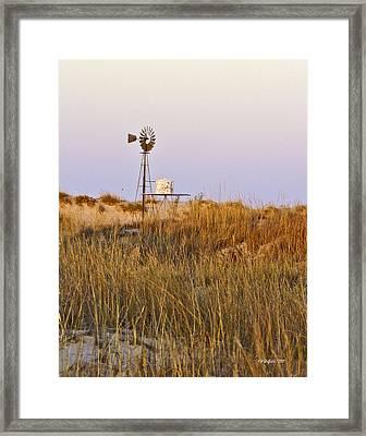 Windmill At Dusk 2011 Framed Print