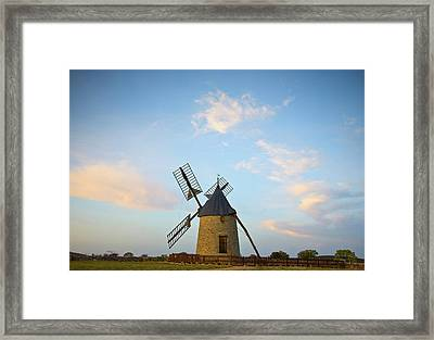 Windmill At St Pierre De La Fage Framed Print by Panoramic Images
