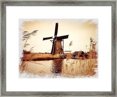 Windmill Framed Print by Beril Sirmacek