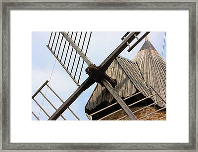 Windmill Framed Print by Carrie Warlaumont