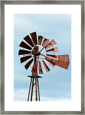 Framed Print featuring the photograph Windmill by Cathy Shiflett