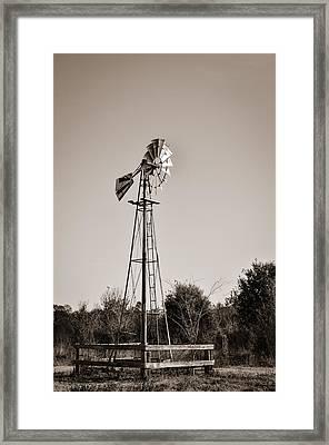 Windmill Circle B Bar Reserve Framed Print by Carolyn Marshall