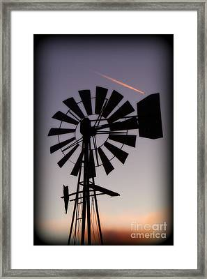 Framed Print featuring the photograph Windmill Close-up by Jim McCain