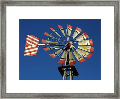 Windmill Close Up Framed Print by Kay Sparks