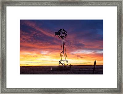 Windmill Dressed Up Framed Print by Shirley Heier