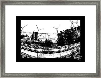 Windmill Farm Framed Print by Gerry Robins