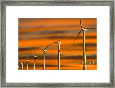 Windmill Farm Framed Print