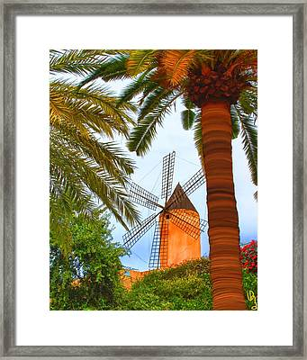 Windmill In Palma De Mallorca Framed Print