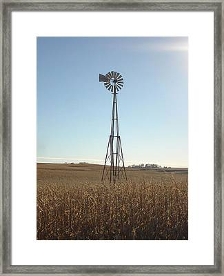 Framed Print featuring the photograph Windmill by J L Zarek