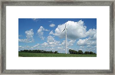Framed Print featuring the photograph Windmill by John Mathews