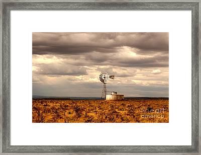 Windmill Framed Print by Kathlene Pizzoferrato