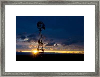 Framed Print featuring the photograph Kansas Lighthouse by Shirley Heier