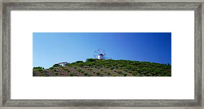 Windmill Obidos Portugal Framed Print by Panoramic Images