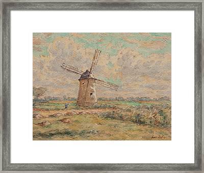 Windmill Of Artois Framed Print by Henri Duhem