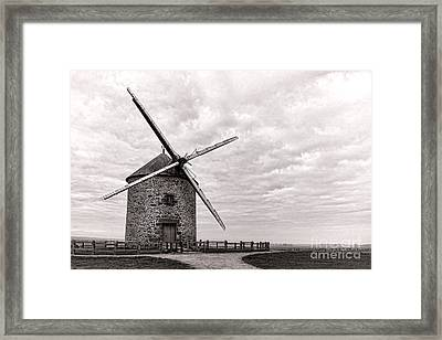 Windmill Framed Print by Olivier Le Queinec