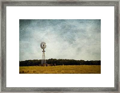 Windmill On The Farm Framed Print by Beverly Stapleton