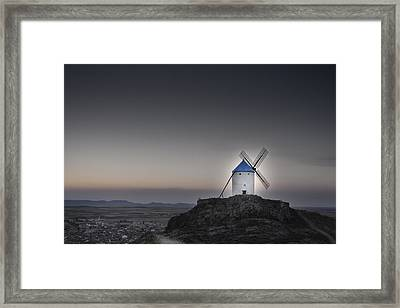 Windmill On The Hill Framed Print by Juan Cala