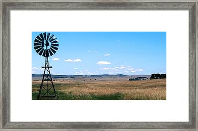 Windmill On The Plains Framed Print by Kaleidoscopik Photography