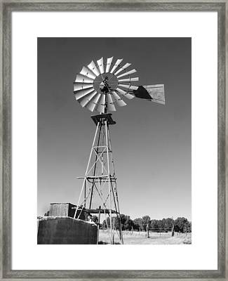 Windmill On The Range Framed Print