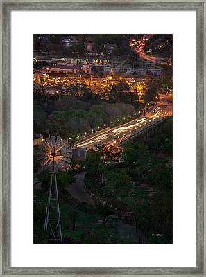 Windmill Over Niblick Bridge Framed Print