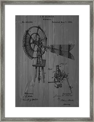 Windmill Patent Barn Wall Framed Print by Dan Sproul