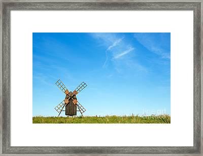 Windmill Portrait Framed Print